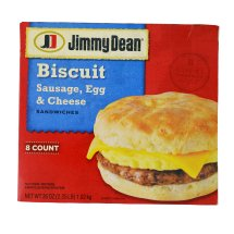Jimmy Dean Sausage Egg & Cheese Biscuit Family Pack Sandwiches, 8 ct