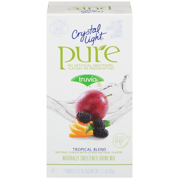 Crystal Light Pure Tropical Blend On the Go Drink Mix
