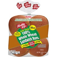 Healthy Life Soft Style 100% Whole Wheat Sandwich Buns