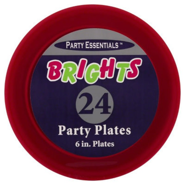 Party Essentials Brights Party Plates