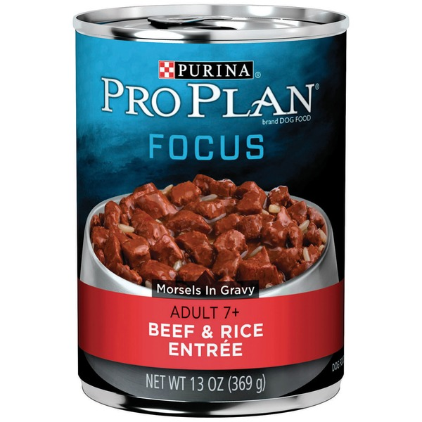 Pro Plan Dog Wet Focus Adult 7+ Beef & Rice Entree Morsels in Gravy Dog Food