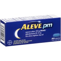 Aleve PM Caplet, Pain Reliever/Fever Reducer/Sleep Aid, 80ct