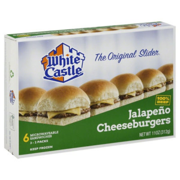 White Castle Microwavable Jalapeno Cheeseburgers