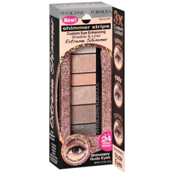 Shimmer Strips 6407C Extreme Shimmer Nude Eyes--Etincelants Extremes Yeux Naturels Shadow & Liner--Fard a Paupieres et Eyeliner