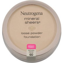 Neutrogena Mineral Sheers Loose Powder Foundation, Natural Beige 60, .19 Oz