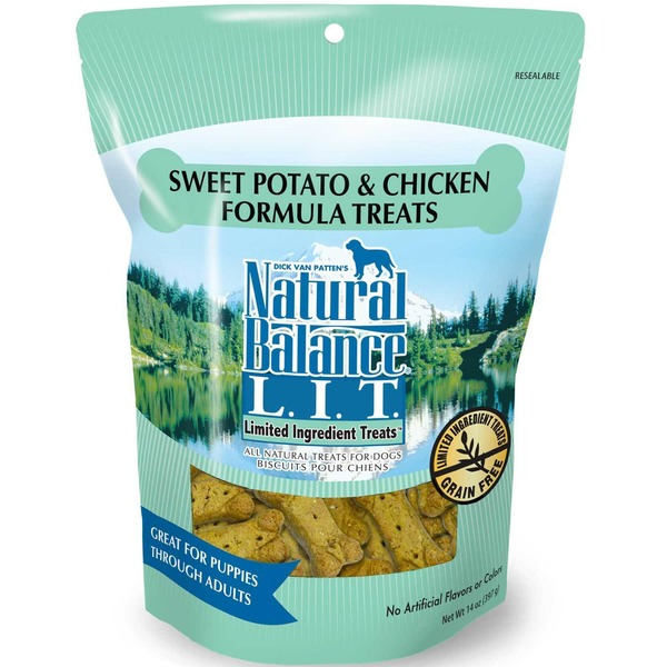 Natural Balance L.I.T. Sweet Potato & Chicken Formula Dog Treats Pouch