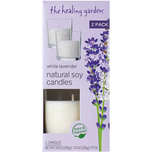 The Healing Garden White Lavender Natural Soy Candles