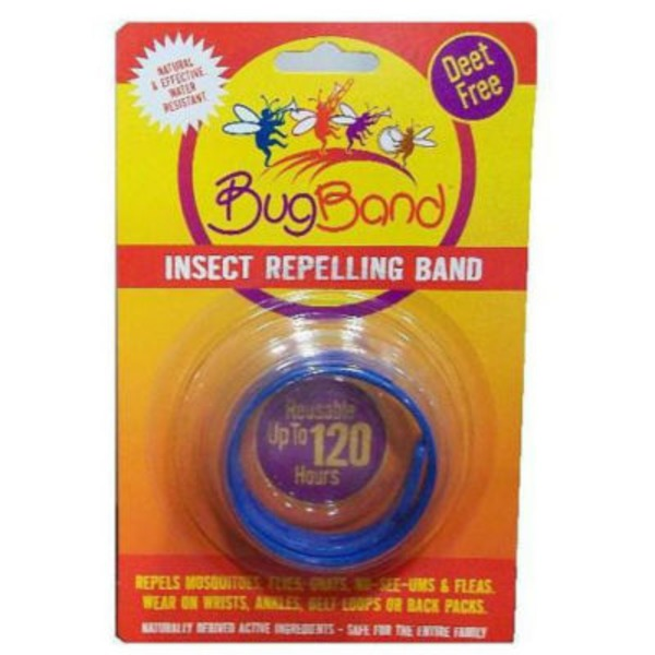 Bugband Blue Insect Repellant Wristband