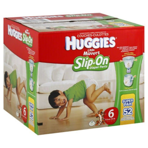 Huggies Supreme Little Movers Slip On Size 6 Diapers