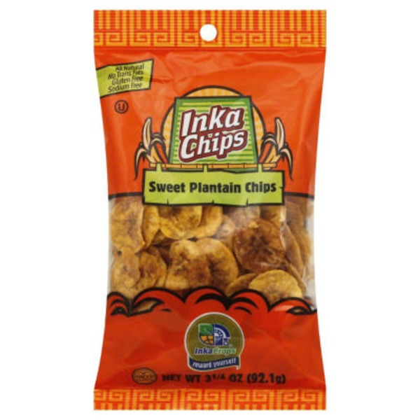 Inka Crops Plantain Chips, Sweet