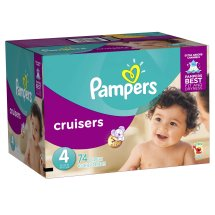 Pampers Cruisers Diapers, Size 4, 74 Diapers