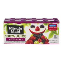 Minute Maid 100% Fruit Juice, Mixed Berry, 6 Fl Oz, 10 Count