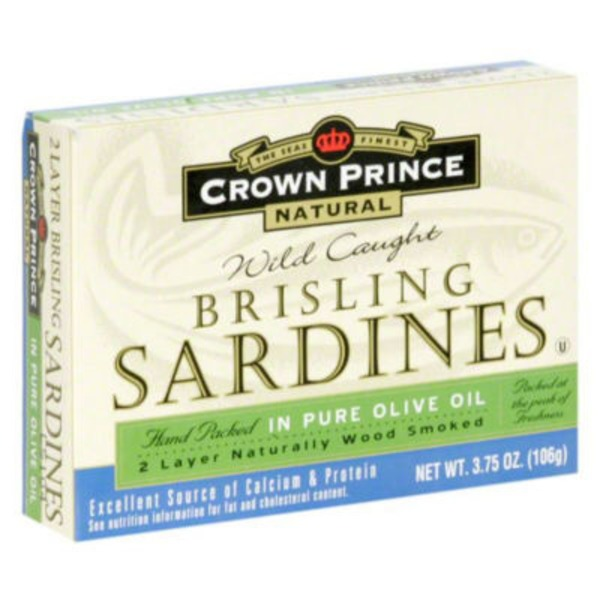 Crown Prince Brisling Sardines in Extra Virgin Olive Oil