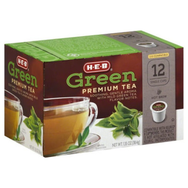 H-E-B Green Premium Tea Single Cup