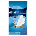 Always Infinity Size 3 Extra Heavy Flow Pads with Wings, Unscented, 28 Count