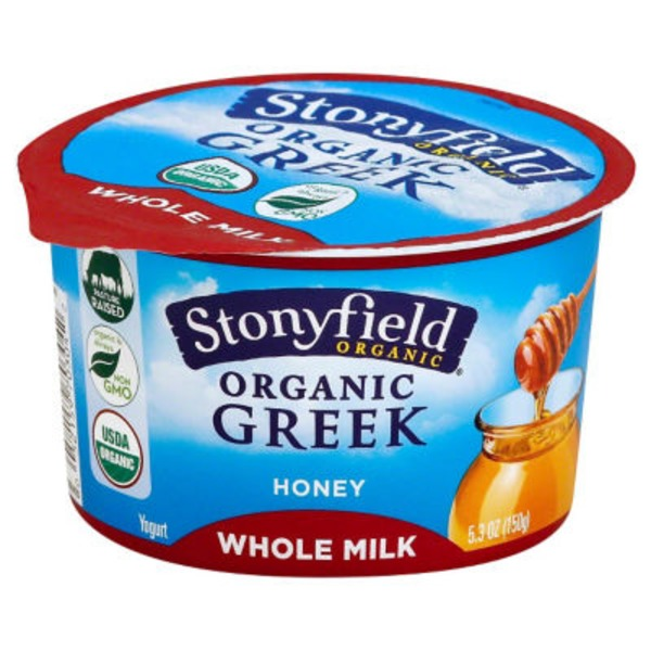 Stonyfield Organic Whole Milk Honey Organic Yogurt