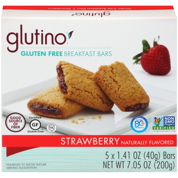 Glutino Gluten Free Breakfast Bars, Strawberry