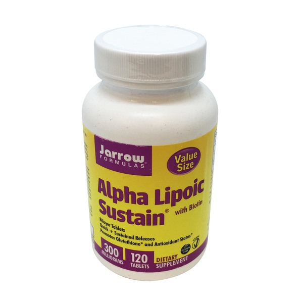 Jarrow Formulas Alpha Lipoic Sustain 300mg Tablets