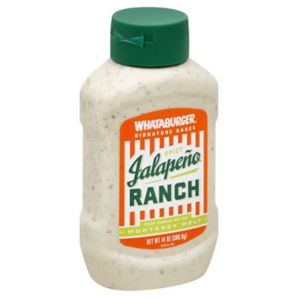 Whataburger Signature Spicy Jalapeno Ranch Sauce