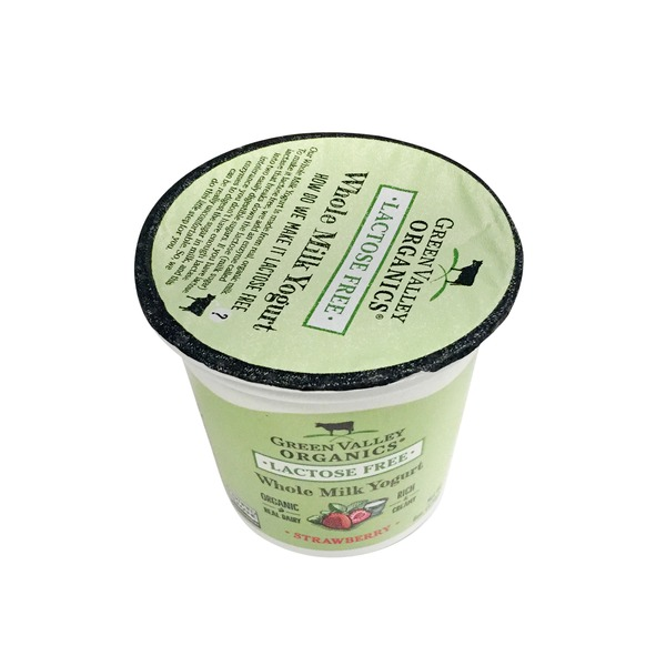 Green Valley Organics Organic Strawberry Lactose Free Whole Milk Yogurt