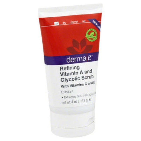 Derma E Anti-Wrinkle Vitamin A Glycolic Scrub with Vitamins C and E