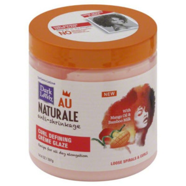 Dark and Lovely For Loose Spirals and Curls Au Naturale Anti-Shrinkage Curl Defining Creme Glaze