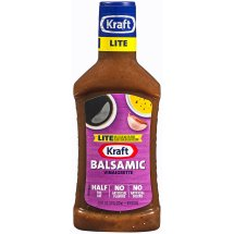 Kraft Salad Dressing Vinaigrette Balsamic Lite, 16 fl oz