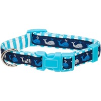 Petco Blue Whale Nylon Adjustable Dog Collar For Necks 9