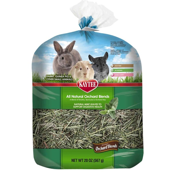 Kaytee All Natural Orchard Blends Digestive Health Hay For Small Animals 20 Oz