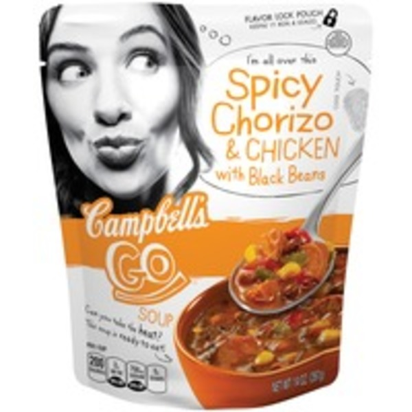 Campbell's Go Soup Spicy Chorizo & Chicken with Black Beans Soup