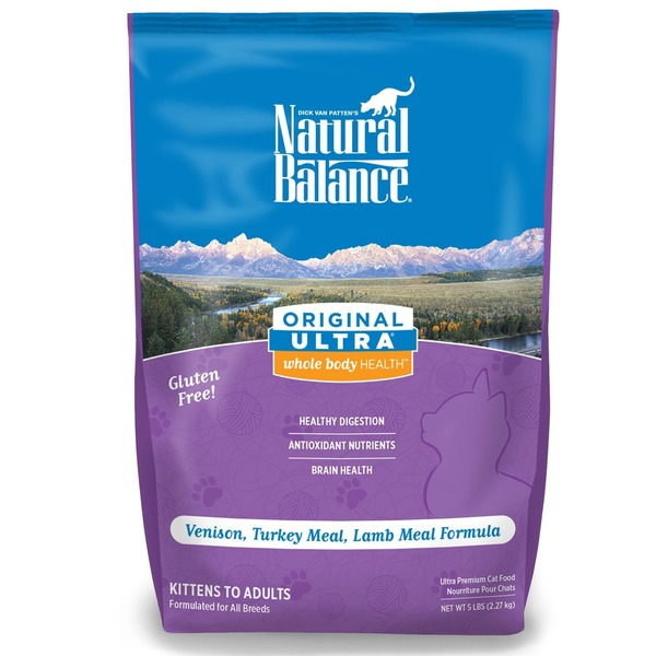 Natural Balance Original Ultra Whole Body Health Venison Turkey & Lamb Dry Kitten & Cat Food 5 Lb