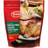 Tyson Frozen Breaded Fully Cooked Parmesan Herb Encrusted Chicken Strips