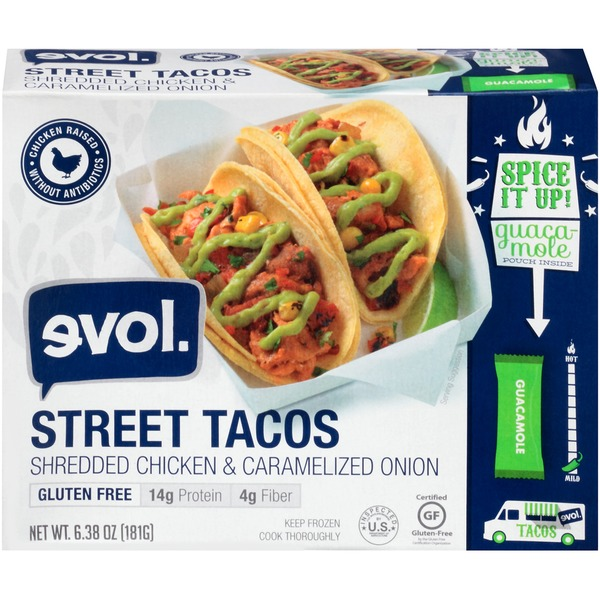 Evol Foods Shredded Chicken & Caramelized Onion Street Tacos