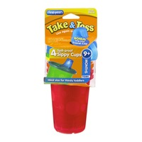 The First Years Take & Toss Spill-Proof Sippy Cups 9+ Months - 4 CT