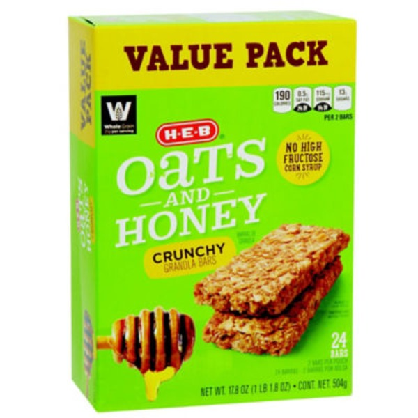 H-E-B Oats & Honey Crunchy Granola Bar