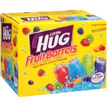 Little Hug Fruit Drink Barrels, Original Variety Pack, 8 Fl Oz, 40 Count