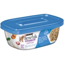 Purina Beneful Chopped Blends With Turkey, Sweet Potatoes, Brown Rice & Spinach Dog Food 10 oz. Plastic Tub