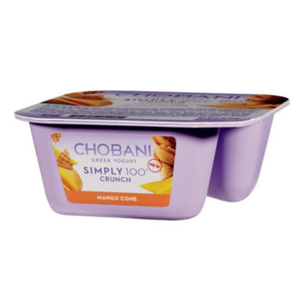 Chobani Simply 100 Crunch Mango Cone Crisp Non-Fat Greek Yogurt