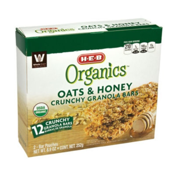 H-E-B Organic Oats & Honey Crunchy Bar