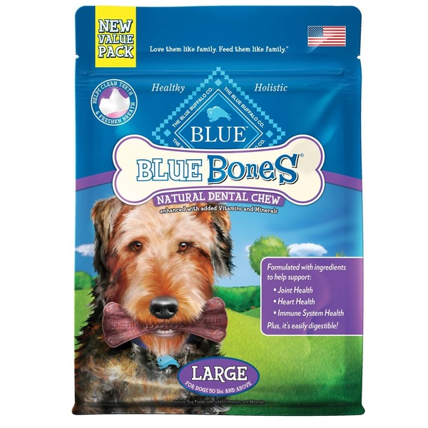 Blue Buffalo New Value Pack Natural Dental Chew Large