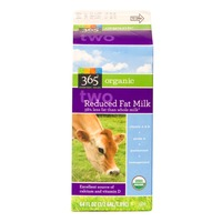 365 Organics Reduced 2% Fat Milk