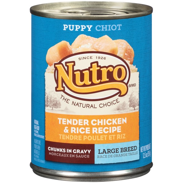 Nutro Puppy Large Breed Chunks in Gravy Tender Chicken & Rice Recipe Dog Food