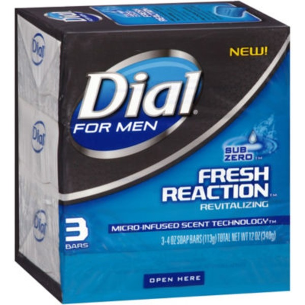 Dial For Men Fresh Reaction Revitalizing Sub Zero Soap