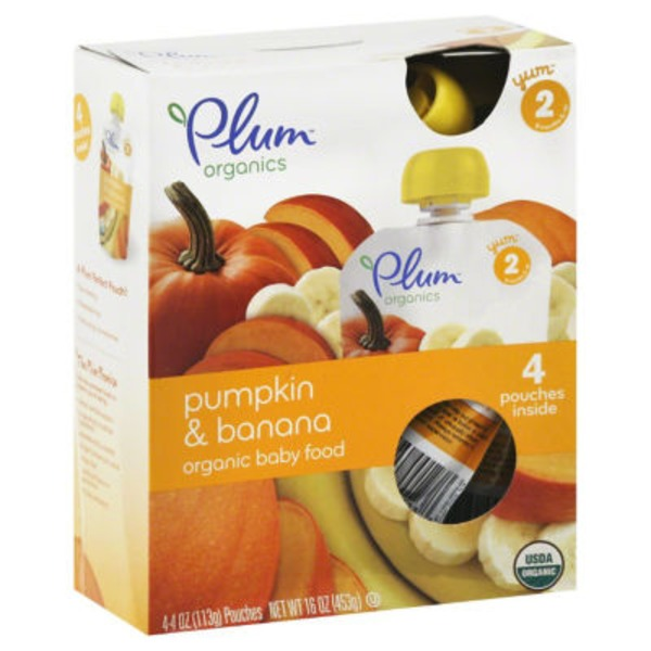 Plum Baby Pumpkin & Banana Stage 2 Baby Food