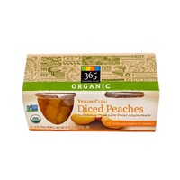 365 Organic Diced Yellow Cling Peaches