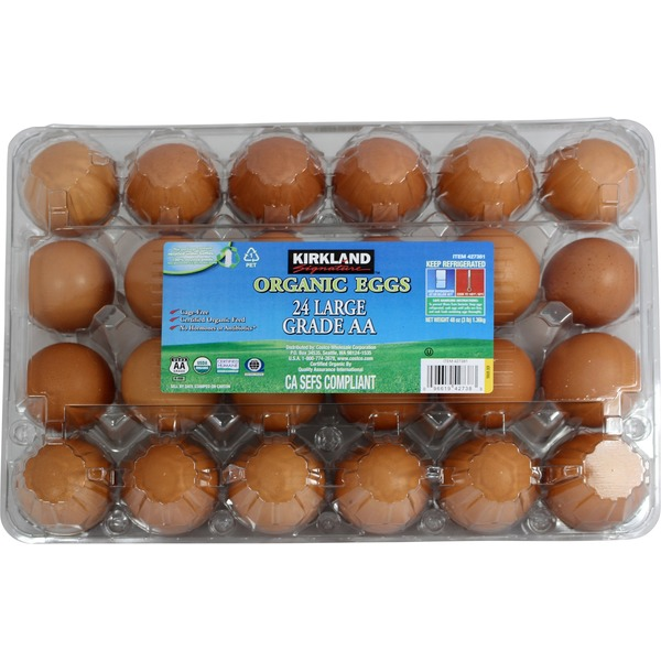 Kirkland Signature Organic USDA Grade AA Brown Eggs