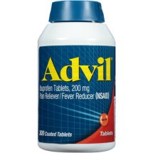 Advil Pain Reliever / Fever Reducer Coated Tablet, 200mg Ibuprofen, Temporary Pain Relief (300 Ct)