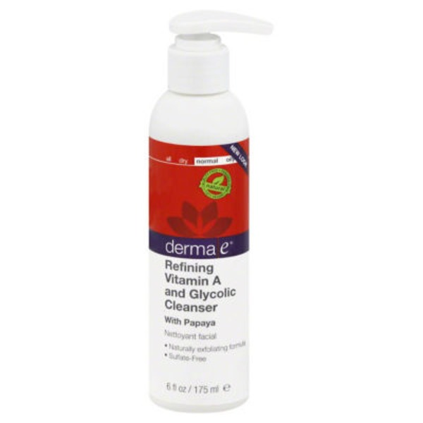 Derma E Anti-Wrinkle Vitamin A Glycolic Cleaner with Papaya