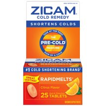 Zicam Fast Acting Non-Drowsy Cold Medicine Relief Remedy Rapid Melt Dissolving Tablets, Citrus Flavor, 25 tablets
