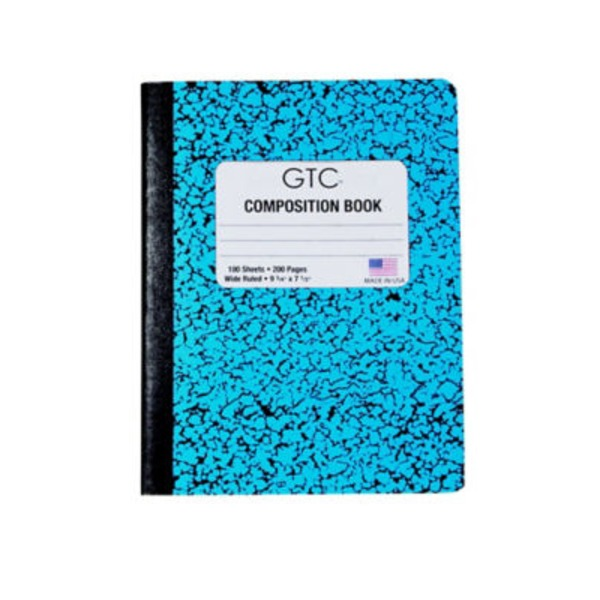 GTC Composition Book 100 Sheets Wide Ruled